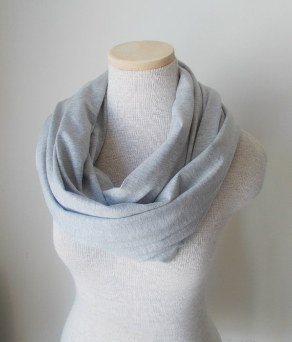 grey jersey knit infinity scarf by megansmenagerie