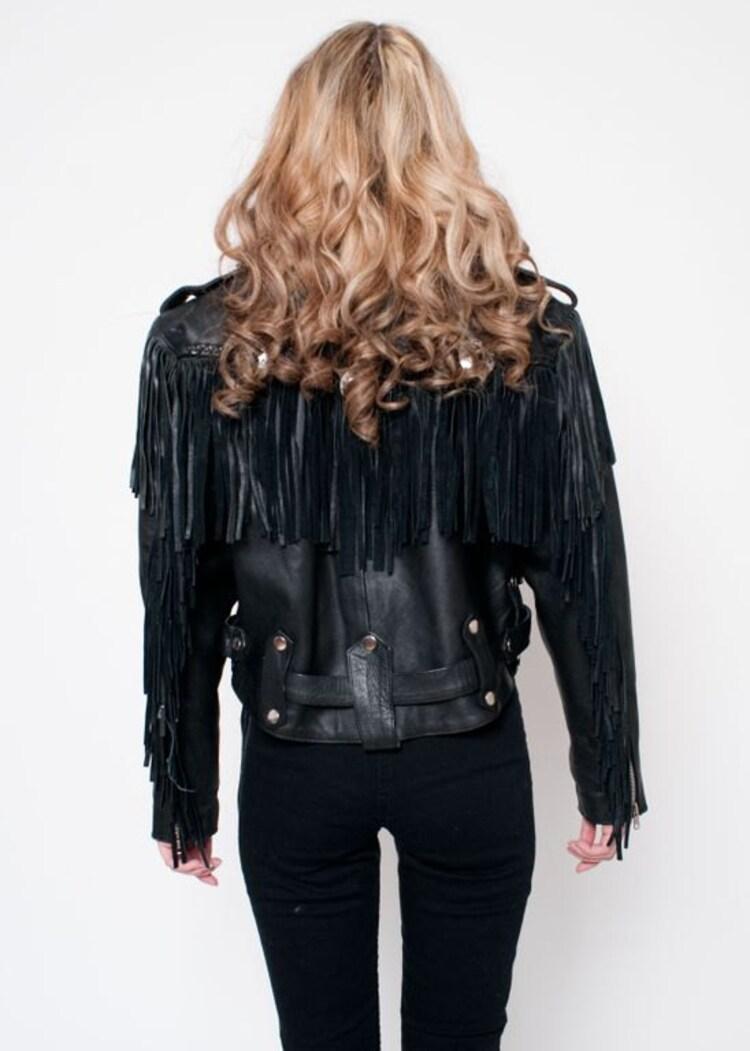 Black Fringe Jacket Png