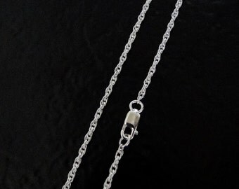 30 Inch - Sterling Silver 1.6mm Rope Chain