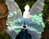 White Iridescent Adult life like Fairy Wings.
