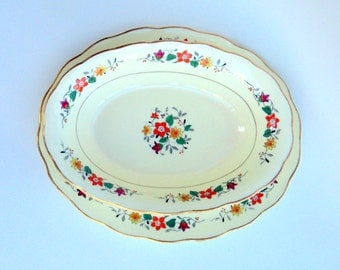 Vintage George Jones and Sons, Crescent China, England,cr. 1910, Floral Vegetable dish and Platter    I take CREDIT CARDS