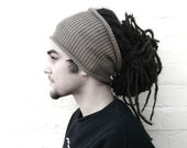 Mens dreadlock tube hat, plain hair wrap, dread band, custom made in any colour, size REGULAR.