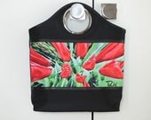RING TOTE - on SALE and in stock for Christmas!  Shown in Red Tulip, Lavender Bouquet Images.