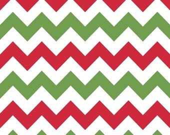 SALE - Riley Blake - Medium Chevron in Christmas - Fat Quarter