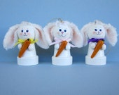 Easter Bunny Bell Ornament Set of 3