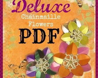 Chainmaille Flowers pdf Tutorial - Fun Intermediate Scale Weave
