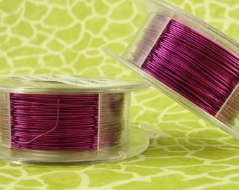 Dark Amethyst Colored Wire - Non Tarnish Enameled Coated Copper - 100% Guarantee -18, 20, 22, 24, 26, 28, 30, 32, 34 gauge