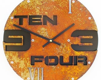 Outnumbered II, Medium, Rustic Wall Clock, Unique Wall Clock, Modern Wall Clock, Steampunk Home Decor, Industrial Metal Art, Laser Cut, Gift