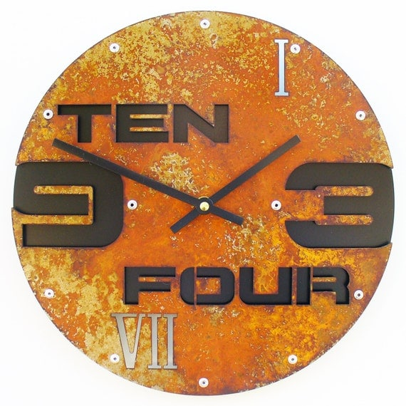 Outnumbered II, Medium, Rustic Wall Clock, Unique Wall Clock, Modern Wall Clock, Steampunk Home Decor, Industrial Metal Art, Laser Cut, Gift