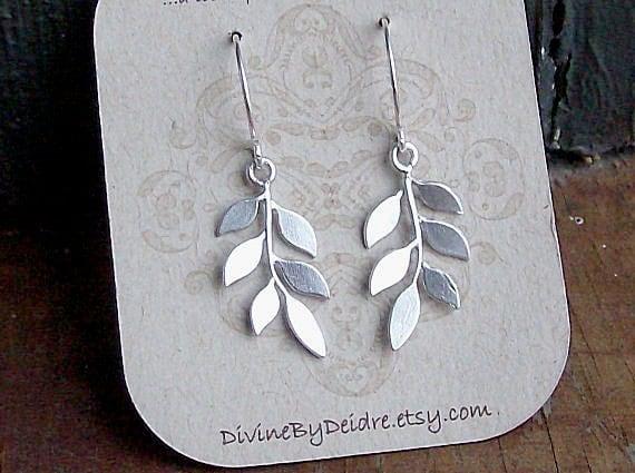 Little Branch Earrings in Silver