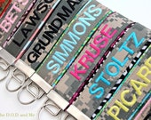 Reserved Name Tape Keychain Listing for Sara