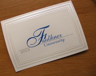 Graduation Announcement, traditional folded card, Formal, Elegant, Faulkner