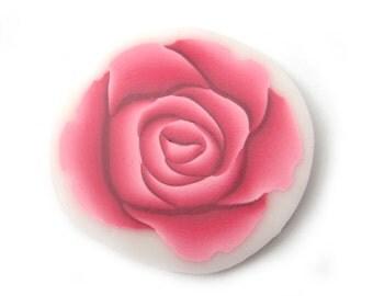Polymer Clay Cane Millefiori Pink Rose Cane