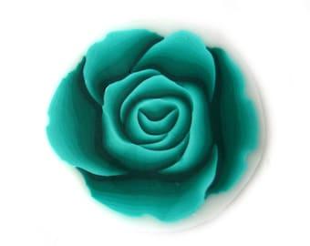 Fimo Cane Polymer Clay Cane Millefiori Emerald Green Rose Cane