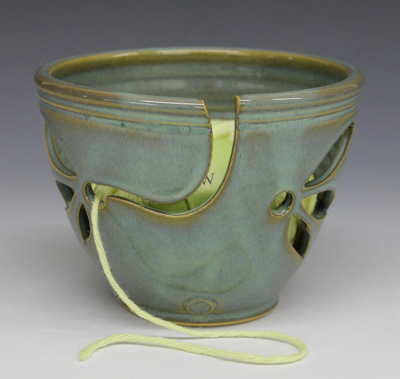 Knitting Yarn Bowl : Yarn bowl knitting turquoise glaze by toddpletcher