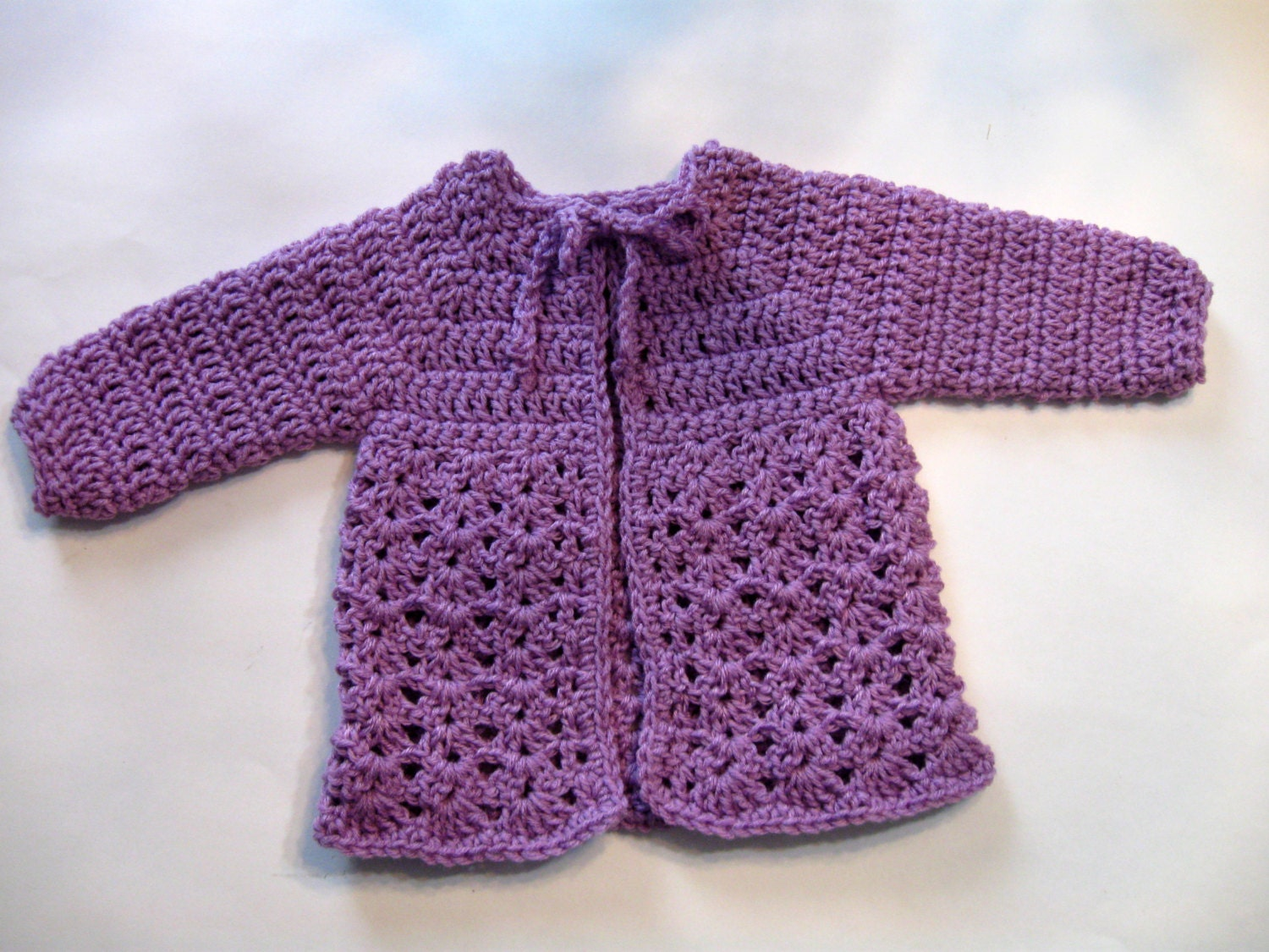 Gallery For > Easy Crochet Baby Sweater