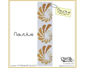 Nautilus - Peyote bracelet Pattern  - INSTANT DOWNLOAD pdf -Discount codes are available