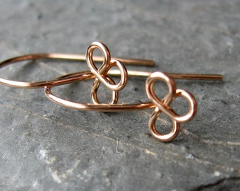 Handmade bronze trefoil earwires x 10 pairs MADE TO ORDER