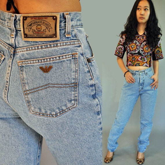 80s vintage high waisted jeans / GIORGIO by rockstreetvintage