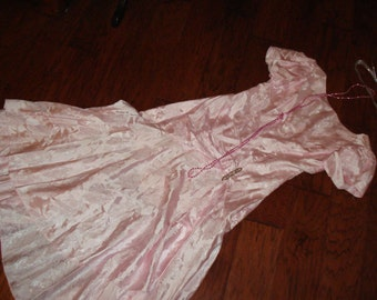 20's  flapper pink dress beads Gatsby theater  Halloween COSTUME womens 5/6 theater look Downton abby