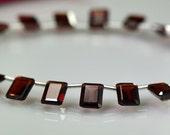 SALE-Garnet Briolettes AAA Octagon Shaped Garnet Briolette Gemstone Beads 7-8mm