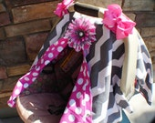 Car seat canopy Free Shipping Code Today Chevron Stripe