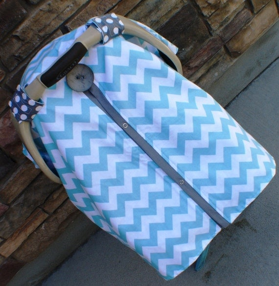 Carseat Canopy Free Shipping code today Chevron Stripe  / Car seat cover / car seat canopy / carseat cover / carseat canopy / nursing cover