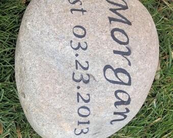 Personalized Oathing Wedding Stone Large 11-12 Inch Wedding Stone
