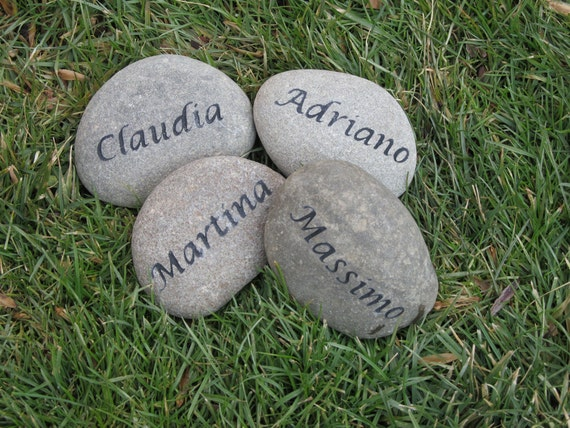 personalized gift garden stone family engraved stone 3 4 inch