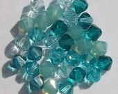 Swarovski crystal beads - 5 different colors - Swarovski BICONE 5328 Crystal Beads BLUE LAGOON -- Available in 4mm and 6mm