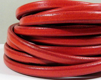 Regaliz Licorice Leather - Distressed Red - R11 - Choose Your Length