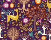 1/2 yard - Fantasy forest in purple,  Michael Miller fabrics