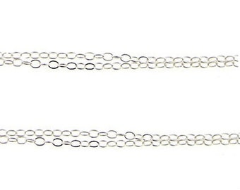 Finished Sterling Silver Cable Chain 24 Inches  - READY TO WEAR - 1 pc