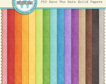 P52 Save The Date Solid Papers