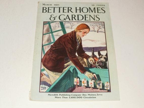 Vintage better homes and gardens magazine march 1933 retro March better homes and gardens