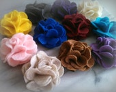 Felt  Flower hair clip - choose 3 colors - made to order, custom, girls, hair, accessory, gifts for her, by ktnunna