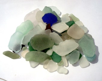 Bulk  Sea Glass 1/2 pound Seaglass CRAFT Quality Beach Glass From Puerto Rico Assortment  Size
