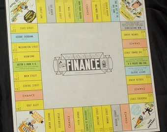 Finance 1958 And Stratego 1961 Vintage Game Boards
