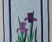 Iris Fiber Art Quilt