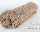 SALE!! RTS Newborn Blanket - Luxury Soft Alpaca- Knit Photography Prop Newborn Blanket - Basket Stuffer- Soft Knit Blanket  (Ready to Ship)