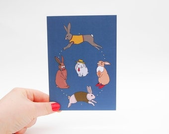 Oval Rabbits Card