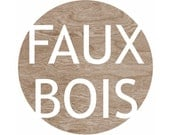 Faux Bois Woodgrain Alphabet Typography Home Decor Art Print -  8 x 10 - Circle Print - blockpartyprints