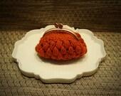 Orange coin purse