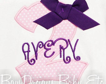 Girls Birthday Shirt, Birthday Girl Shirt, Girls Birthday Clothes, Girls Second Birthday Shirt, Bodysuit, Any Age, Custom Colors