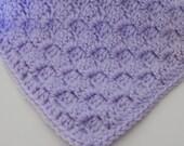 Baby Blanket Lilac baby Girl  Afghan