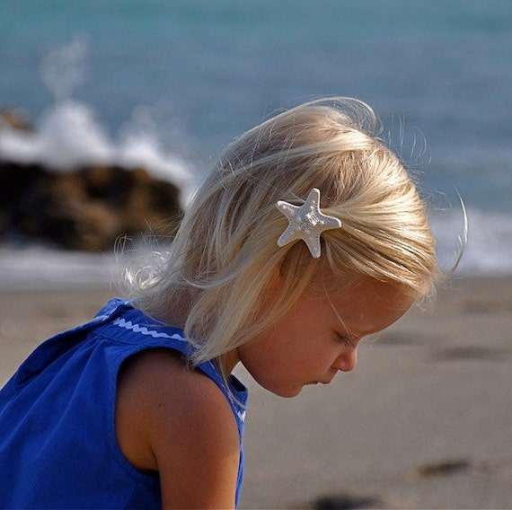 Starfish Hair Clip,Mermaid Accessories,Beach Weddings,Starfish Barrette,Mermaid Party Favors,Girl Birthday Party,Little Mermaid,Photo Props