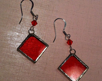 Stained-glass earrings
