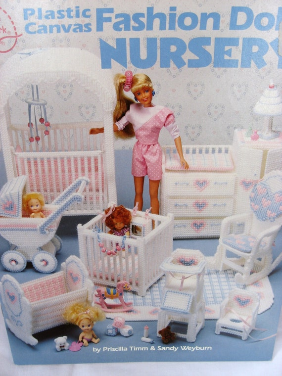 Fashion Doll Barbie Nursery Plastic Canvas Pattern Book Doll