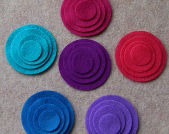 Moroccan Midnight - Circles - 48 Die Cut Felt Circles