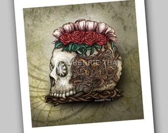 Steampunk Skull, Gothic Horror Surrealism Fine Art Print